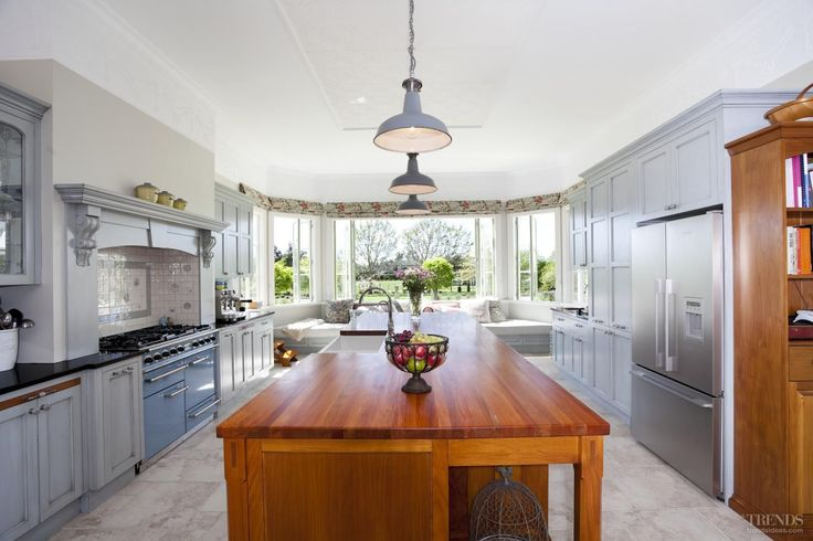 At 3.7m long and 1.3m wide, the wooden island provides a substantial centrepiece. It effectively creates a long workbench that runs adjacent to the cooking, prep and serving areas of the kitchen
