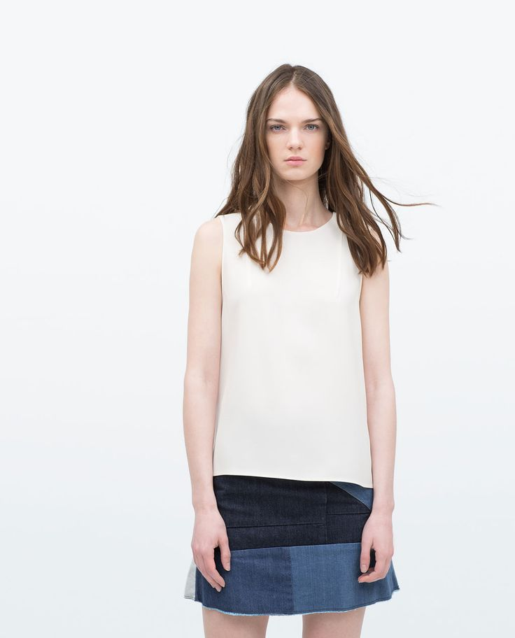 Image 1 of SIDE SLIT TOP from Zara