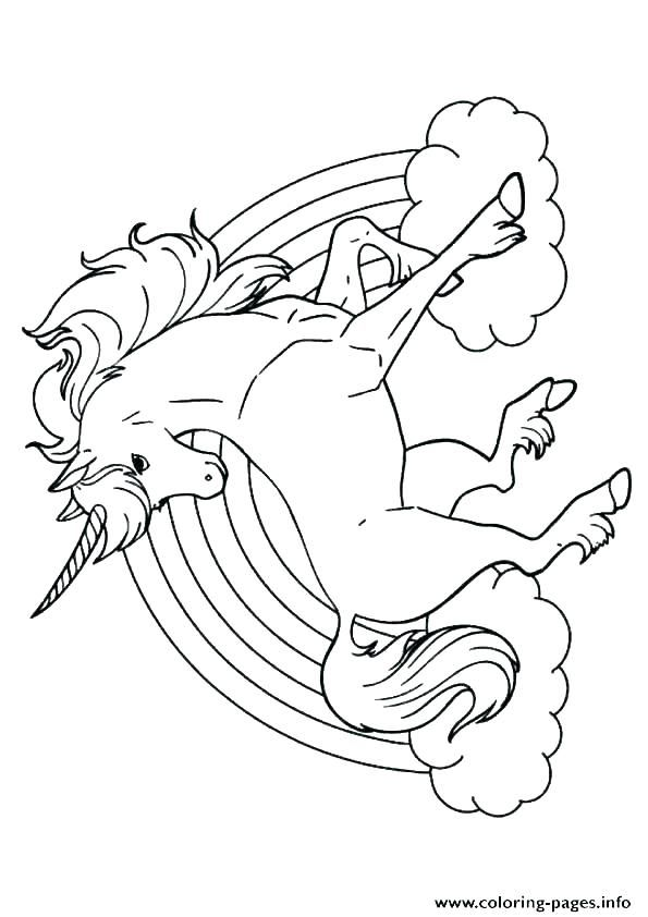 Coloring Pages Unicorns Unicorn Coloring Page Cute Baby Unicorn