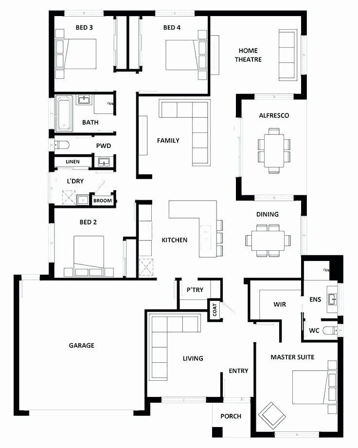 5 Bedroom Bungalow House Plans Inspirational 5 Bedroom Bungalow Plans In Nigeria Three Bedroom B Home Design Floor Plans House Layout Plans Cottage Floor Plans