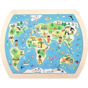 Pussel - världskarta 2 - insGraf