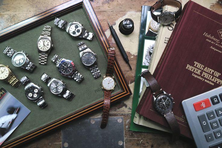 Rolex Daytona, Rolex Day-Date, Omega Speedmaster, Rolex Datejust, Rolex GMT-Master, Rolex Pepsi, Patek, Vintage Watches