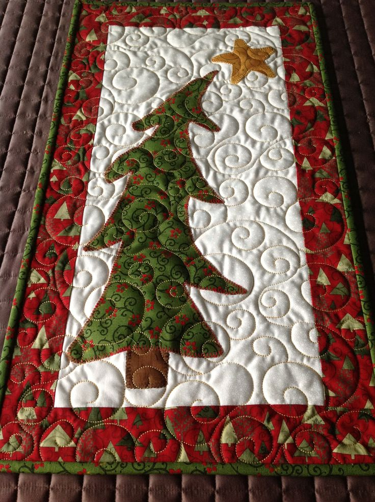 17 Best Images About Quilted Christmas Trees On Pinterest
