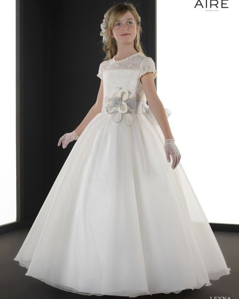 Leyna Vestido De Comuni 243 N Corte Evas 233 Wedding First