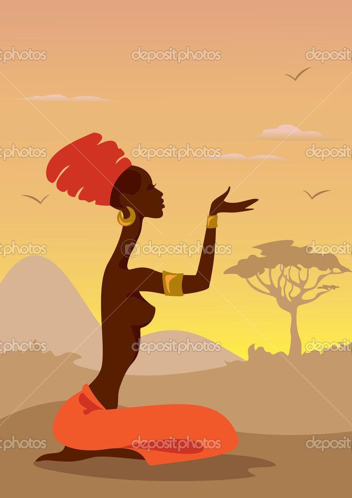 Африканская женщина — стоковая иллюстрация #8159467