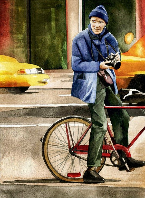 Fashion: Alexandra Compain-Tissier, Bill Cunningham #bike #art #illustration #fashion #book #artbook #bicicletta #bici #illustrazione arte