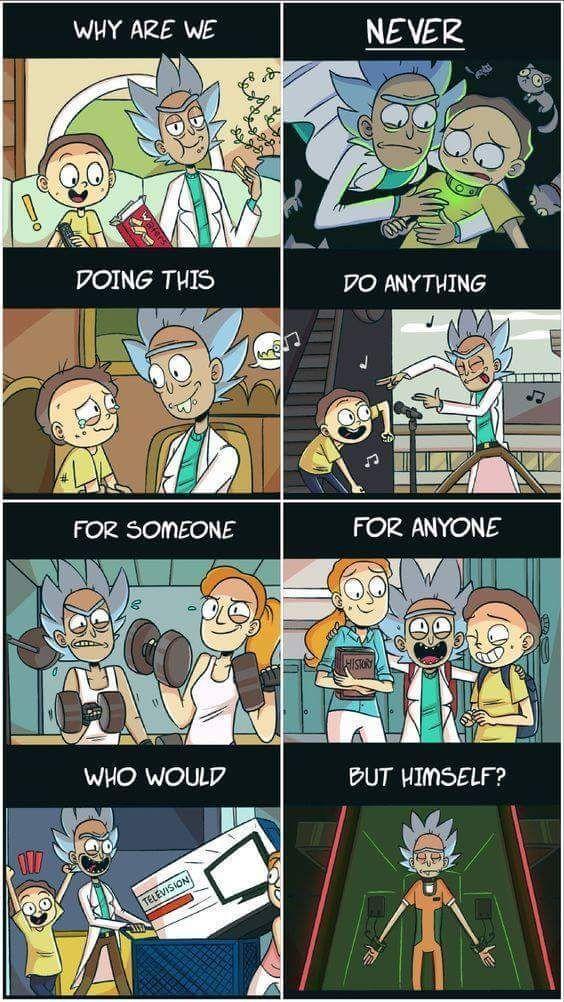 Etwas süßer Rick und Morty