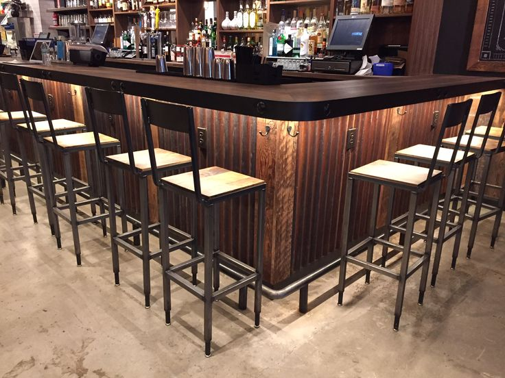 Corrugated Metal Bar Front   Google Search