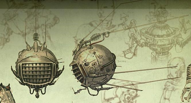 Fallout: New Vegas robots and computers concept art - The Fallout wiki - Fallout: New Vegas and more