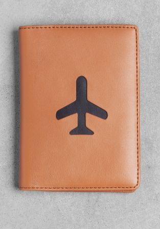 leather passport holder  & other stories