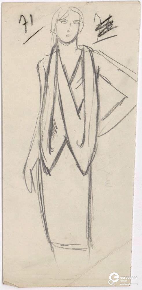 Esquisse de robe, Madeleine Vionnet, Martiale Constantini                                                                                                                                                                                 More