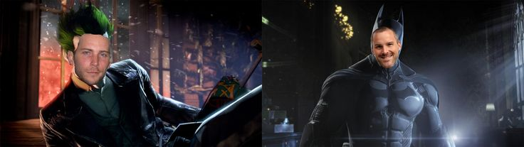 Hahaha Roger Craig Smith as Batman and Troy Baker as the Joker