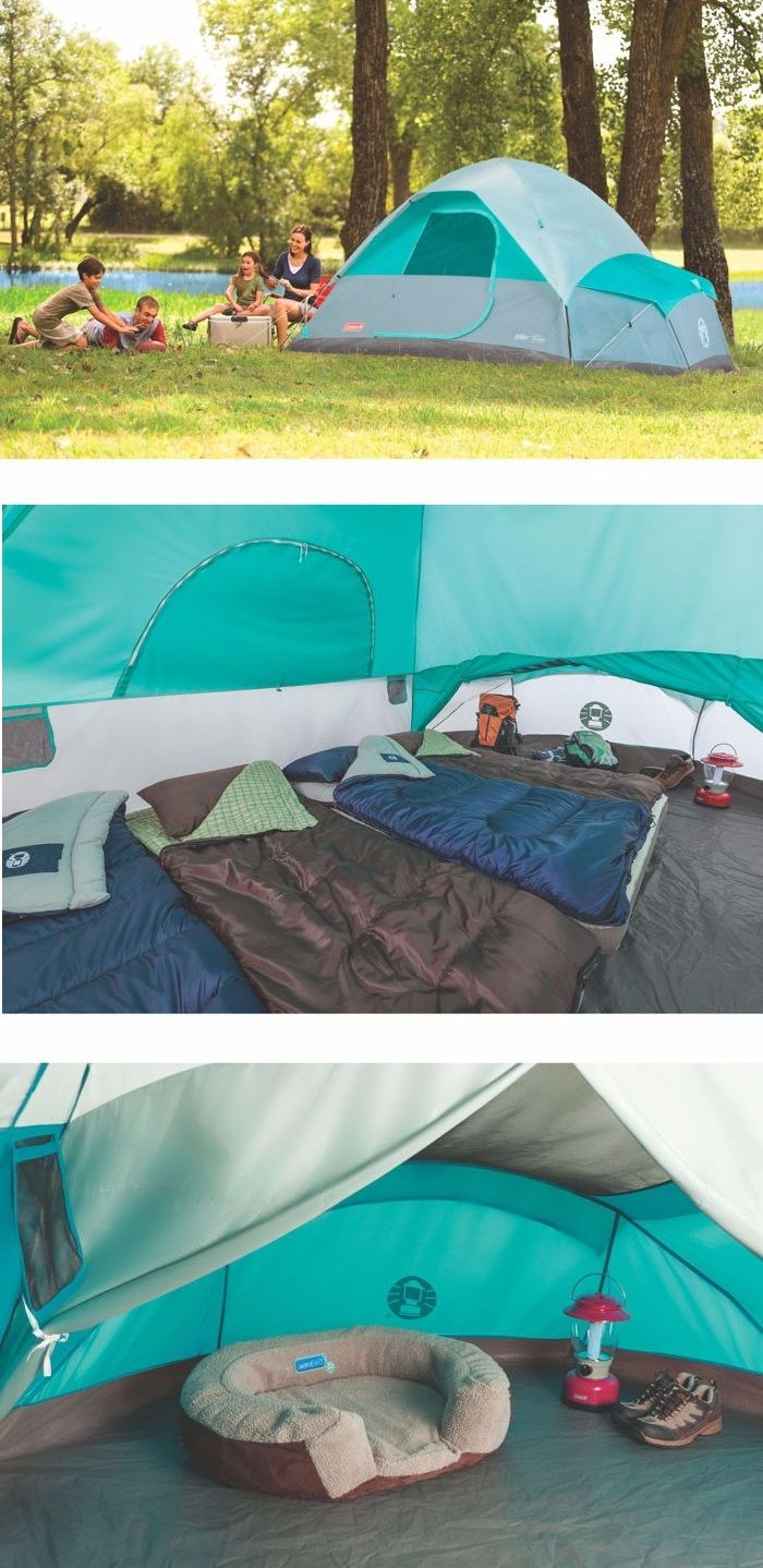Bring all the luxuries from home – you'll have a place to store them safely out of the elements without taking up precious tent space in a Coleman® Fast Pitch™ 7-Person Tent w/Annex. Your gear will be close at hand in the ventilated annex. It's large enough to stash backpacks, other camping gear, or a medium/large dog bed.