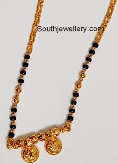 black beads thali - Google Search