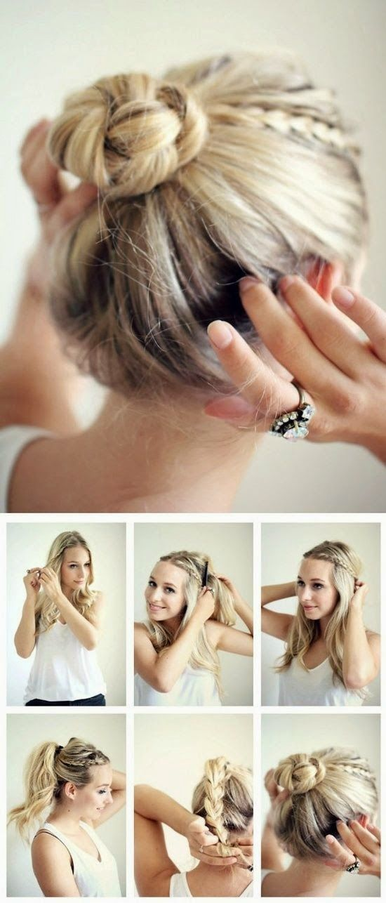 Astounding 1000 Ideas About Easy Updo On Pinterest Easy Updo Hairstyles Hairstyles For Men Maxibearus