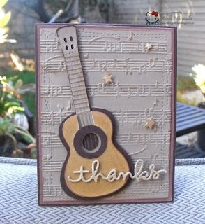 Crafting with Class: Rockin' Guitar | thanks