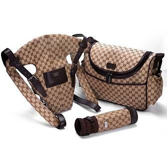 $515 Gucci Baby Series Bag Three Piece Suite Coffee
