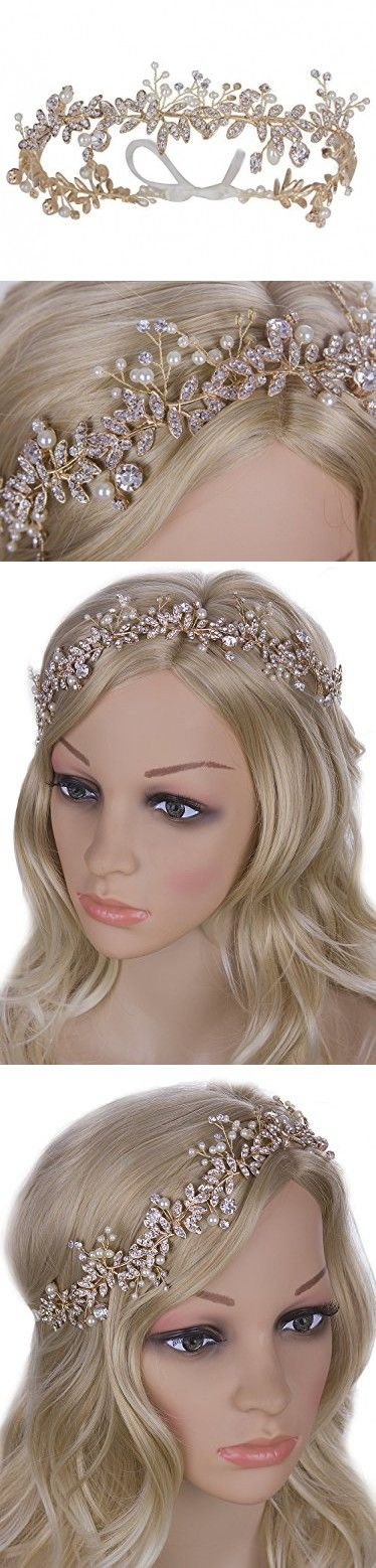 Vijiv Vintage Wedding Accessories Bridal Headpiece Flower Crown Headband Hair Wreath
