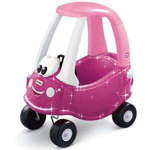 What girl doesn't love glitter? Little Tikes Princess Cozy Coupe® with Glitter: Car, 30Th Anniversary, Tikes Cozy, Toy, Cozy Coupe, Little Tikes, Tikes Princess