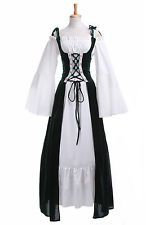Renaissance Medieval Irish Costume Over Dress Fitted Bodice 4 colors any size