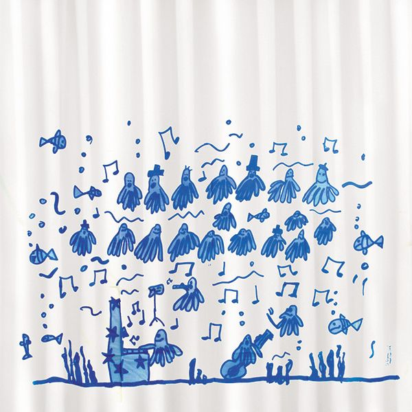 Shower curtain / cortina de ducha / Rideaux de duche. Modelo Pulpitos de Gerard Garcia. Made in Barcelona. www.cha-cha.es