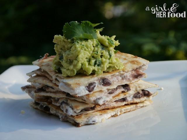 Black Bean and Goat Cheese Quesadillas   good eats.   Pinterest
