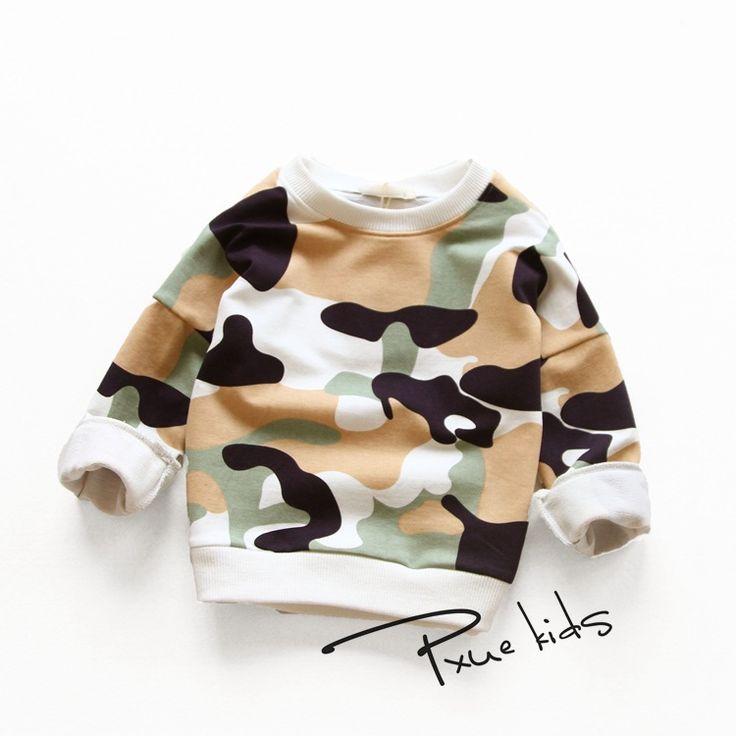 Kid Autumn 2016 Camouflage Hoodies Child Boys girls Sport Sweatshirts Roupas Infantis Menino Children cotton Clothes 90-140cm
