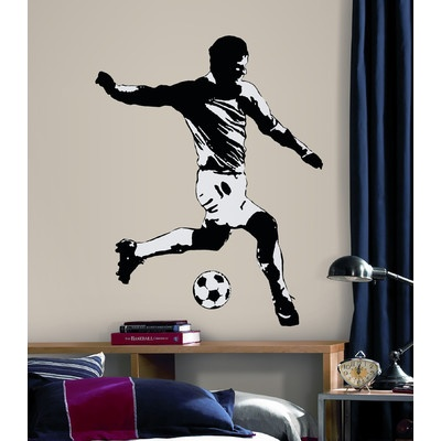 baseball player peel and stick | Room Mates Soccer Player Peel and Stick Wall Decal | Wayfair