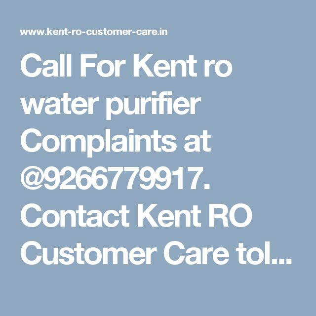 10 best Kent RO Customer Care Support Services images on Pinterest - financial ombudsman complaint form
