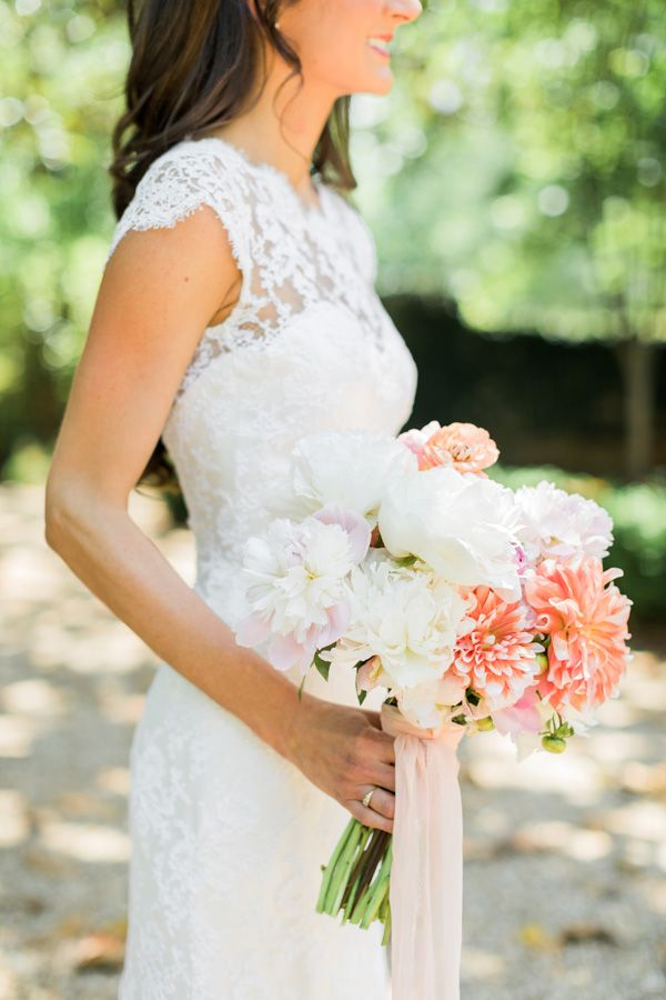 Captivating Georgia Bride Kimberly Shares Her Peach Filled Wedding At Vinewood  Plantation!