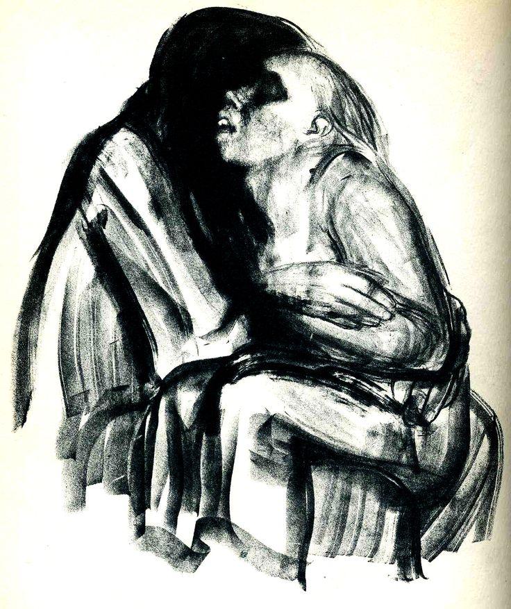 Käthe Kollwitz, lithograph, 1034