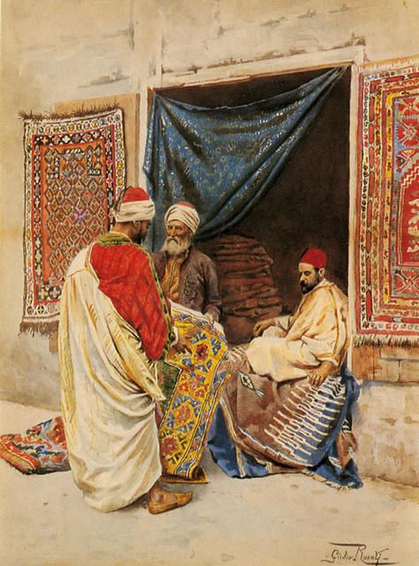Giulio Rosati -The Carpet Merchant -
