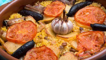 Arroz al horno -- typisch valenicanische Spezialität
