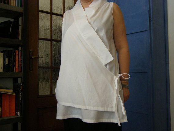 tunica in cotone bianca