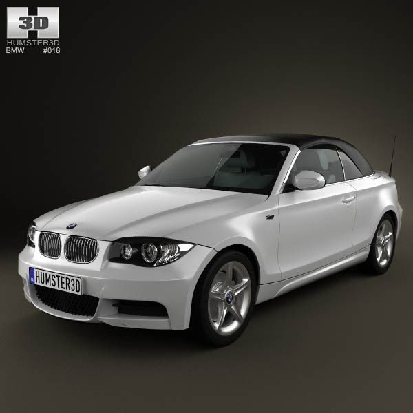BMW 1-series convertible 2009 3d model from humster3d.com. Price: $75