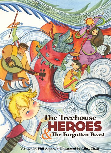 """From their treehouse headquarters come five teen titans and their wise teacher. Now they must save the """"Zez,"""" a mystical Asiatic beast, from an encroaching civilization, the menacing General Moon, and his soldiers. """"Amara and Chau have created an enchanting tale of magic, heroism and plenty of action...They've conjured up something classic, yet so new. I love it."""" - Dan Yaccarino, children's author and creator of Willa's Wild Life and the Oswald TV series"""