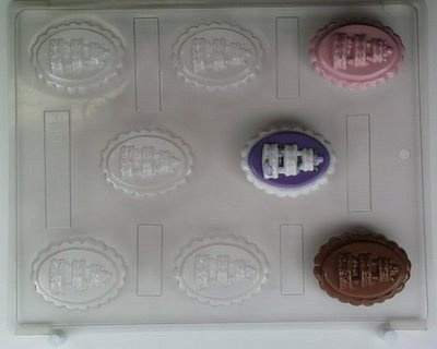 Wedding Cake on Oval Shaped Candy Mold