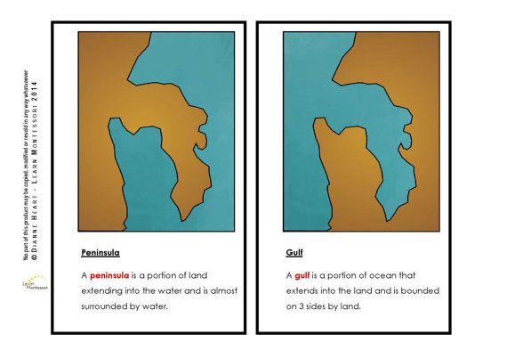 Montessori Curriculum  Geography: Land and by LearnMontessori