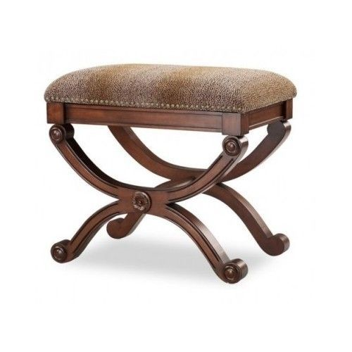 French Country Style Animal Print Furniture Vanity Stool