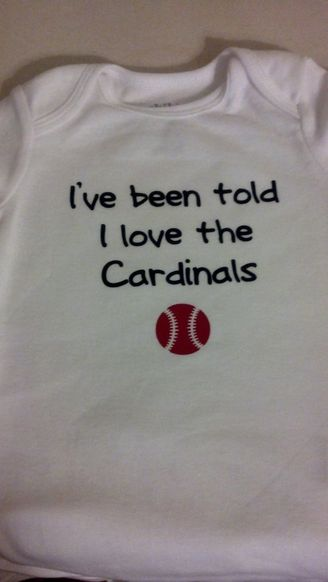 I've been told I love the Cardinals Baseball Onesie #onesie #baby #cardinals #baseball