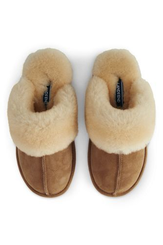789e38523 Try our Women's Shearling Scuff Slippers at Lands' End. Everything we sell  is Guaranteed. Period.® Since 1963.