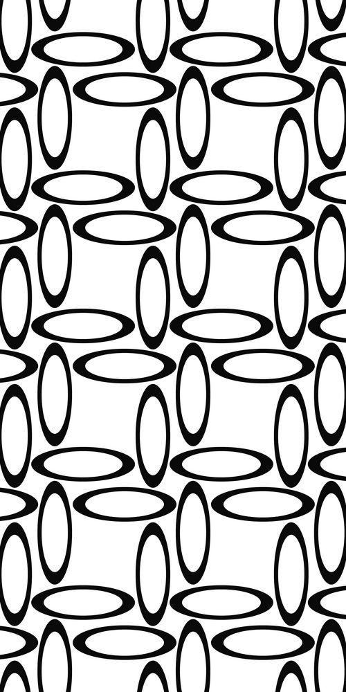 Black white seamless ellipse pattern