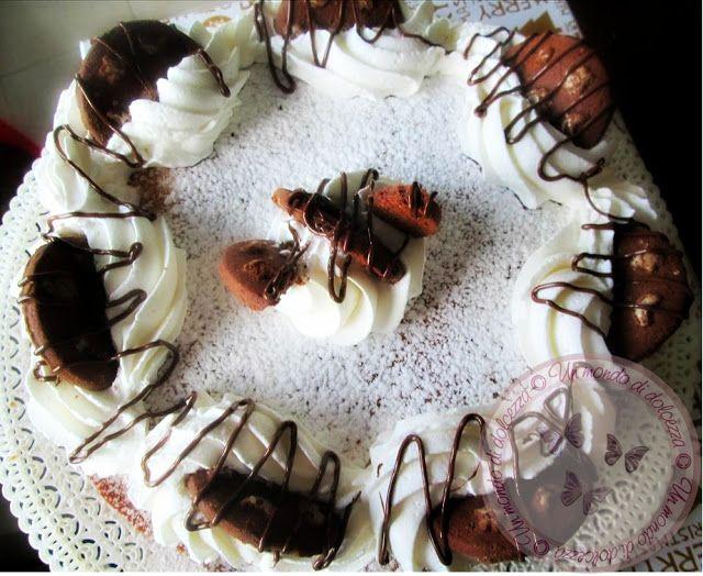 Torta dei 7 vasetti e 1/2,ripiena con panna,biscotti e nutella