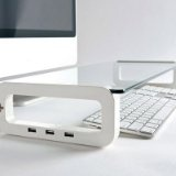 iClooly UBoard (iMac, Laptop  Computer Monitor Stand With Multi USB Port) - iClooly UBoard (iMac, Laptop & Computer Monitor Stand With Multi USB Port)    Material: Tempered Glass, ABS FrameDimensions: 23 (L) x 2 (H) x 9.5 (W)Weight: 3.52 lbsThre