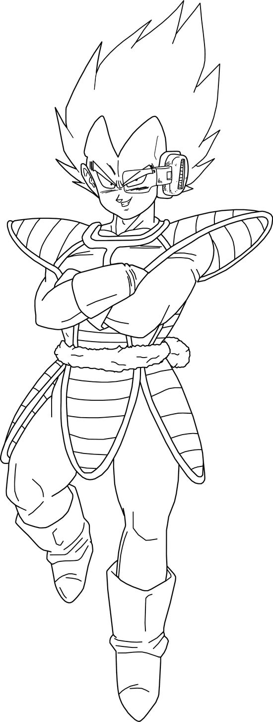 Vegeta (Scouter) Lineart by BrusselTheSaiyan on DeviantArt