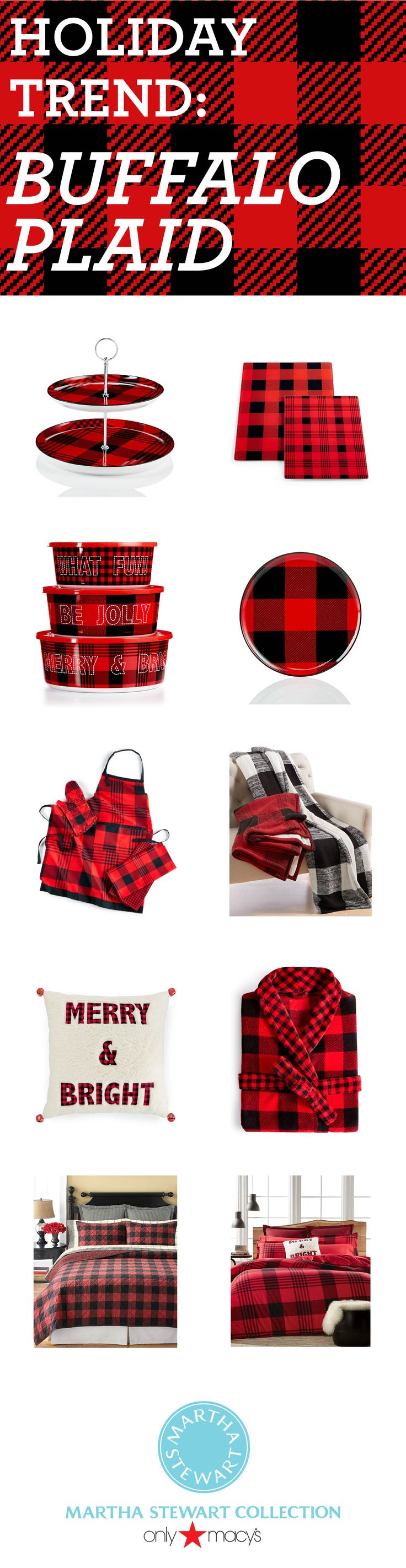 Go mad for plaid this holiday season with the Martha Stewart Collection only at Macy's!