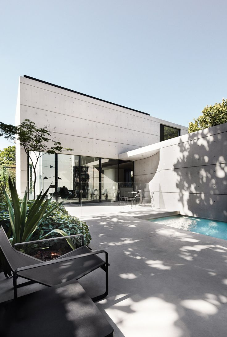 Modern and minimal Sydney home with plunge pool in backyard