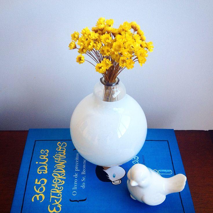 Uma lâmpada que ia para lixo que virou um lindo vasinho #reciclagem