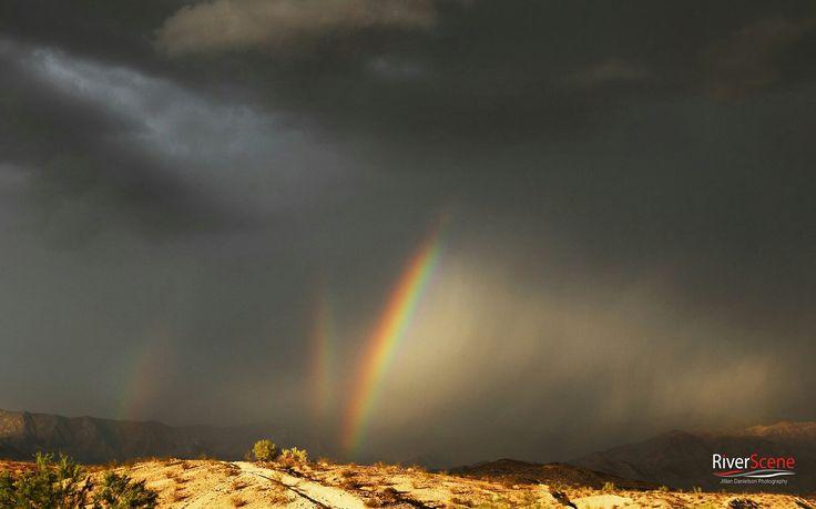 Triple rainbow at Lake Havasu,  AZ at sunset.