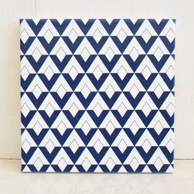 텐바이텐 10X10 : 북유럽 패턴 캔버스 액자 - 블루 스퀘어